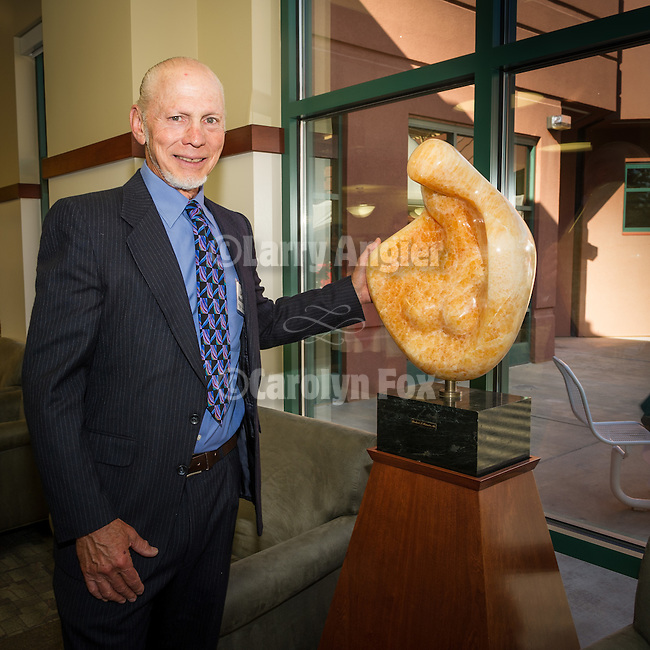 Sutter Amador Hospital annual reception to honor donors to the Sutter Amador Foundation<br /> <br /> Dr. Lincoln Russin donates a marble sculpture carved by his father the famed Robert Russin of Wyoming to Sutter Amador for many to enjoy.