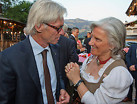 Austria, Kitzbuhel, Juli 15, 2015, Tennis, Davis Cup, Dutch team, Official dinner, coach Martin Bohm<br /> Photo: Tennisimages/Henk Koster