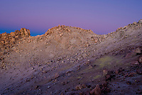 The crater of the Teide before sunrise. Teide volcano is the higest mountain of Spain, 3.718 m. Teide National Park, Tenerife Island, Canary Islands, Spain.