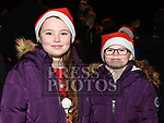 Caoimhe and Cara Wedlock at the turning on of the christmas lights in Bettystown. Photo:Colin Bell/pressphotos.ie
