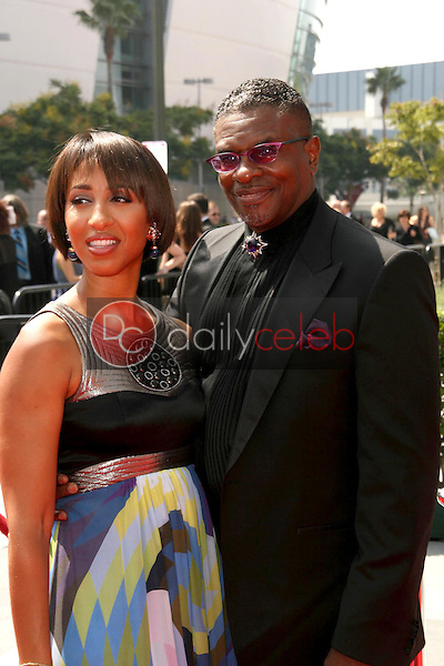Keith David and Wife<br />At the 60th Primetime Creative Arts Emmy Awards Red Carpet. Nokia Live Theater, Los Angeles, CA. 09-13-08<br />Dave Edwards/DailyCeleb.com 818-249-4998
