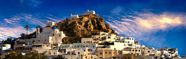 The Hill city of Chora, Ios, Greece, Cyclades Island