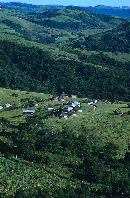 Round Huts near Hluleka Reserve, Eastern Cape, South Africa