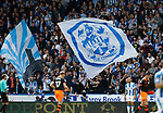 Huddersfield fans in the cowshed during the English Championship play-off 1st leg match at the John Smiths Stadium, Huddersfield. Picture date: May 13th 2017. Pic credit should read: Simon Bellis/Sportimage