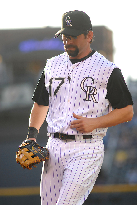 20 May 2008: Rockies 1st baseman Todd Helton during a regular season game between the San Francisco Giants and the Colorado Rockies at Coors Field in Denver, Colorado. The Giants beat the Rockies 6-5. *****For editorial use only*****