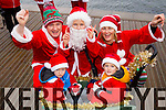Adam and Ryan in front with Oliver Kevin and Claire Molloy, (Tralee), pictured at the Santa 5k run on Sunday last in aid of the Ronald McDonald House, Crumlin.