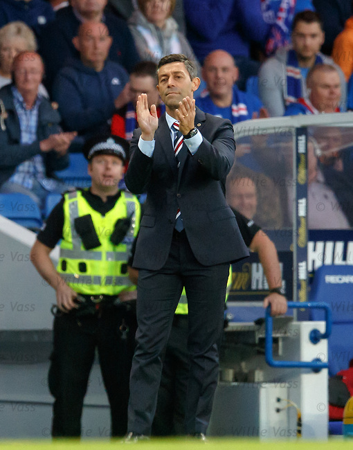 Pedro Caixinha applauds his men