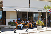 YaMas restaurant on the waterfront. Thessaloniki, Macedonia, Greece