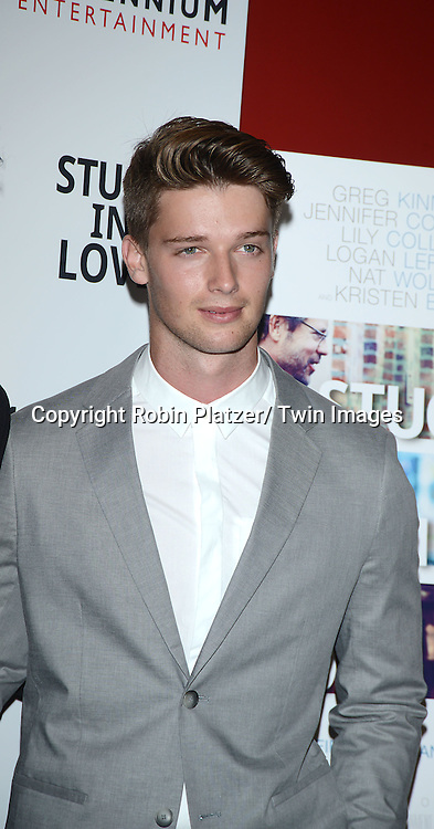 """Patrick Schwarzenegger attends the New York Screening of """"Stuck In Love"""" on June 26, 2013 at The Sunshine Landmark Theatre in New York City. The movie stars Liana Liberato, Nat Wolff and Patrick Schwarzenegger and was written and directed by Josh Boone."""