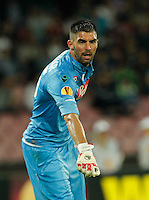 Mariano Andujar during Europa League Semi Final first    leg soccer match, between SSC Napoli and  Dinipro   at  the San Paolo   stadium in Naples  Italy , May 07, 2015