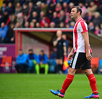 Lincoln City's Matt Rhead<br /> <br /> Photographer Andrew Vaughan/CameraSport<br /> <br /> Buildbase FA Trophy Semi Final Second Leg - Lincoln City v York City - Saturday 18th March 2017 - Sincil Bank - Lincoln<br />  <br /> World Copyright &copy; 2017 CameraSport. All rights reserved. 43 Linden Ave. Countesthorpe. Leicester. England. LE8 5PG - Tel: +44 (0) 116 277 4147 - admin@camerasport.com - www.camerasport.com