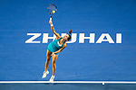 Julia Goerges of Germany serves during the singles semi final match of the WTA Elite Trophy Zhuhai 2017 against Anastasija Sevastova of Latvia at Hengqin Tennis Center on November  04, 2017 in Zhuhai, China. Photo by Yu Chun Christopher Wong / Power Sport Images