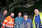 The committee involved in the restoration of the Grotto at Valentia Slate Quarry pictured here l-r; Dan O'Driscoll, Joe Lynch, Sean Curran, John Lyne & Seamus Lynch.