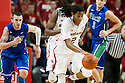 November 8, 2013: David Rivers (2) of the Nebraska Cornhuskers on a fast break after Benny Parker (3) knocked the ball away from Brett Comer (0) of the Florida Gulf Coast Eagles during the second half at the Pinnacle Bank Areana, Lincoln, NE. Nebraska defeated Florida Gulf Coast 79 to 55.