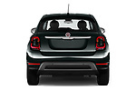 Straight rear view of 2019 Fiat 500-X Cross 5 Door SUV Rear View  stock images