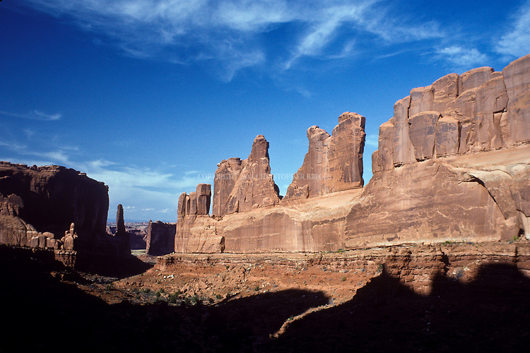 Park Avenue. Arches National Park, 76,679 acres (31,031 ha). National Monument est. 1929; National Park 11/12/1971. Grand County, UT.