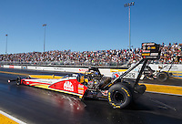 Jul 29, 2016; Sonoma, CA, USA; NHRA top fuel driver Doug Kalitta during qualifying for the Sonoma Nationals at Sonoma Raceway. Mandatory Credit: Mark J. Rebilas-USA TODAY Sports