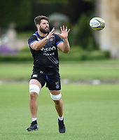 Guy Mercer of Bath Rugby receives the ball. Bath Rugby pre-season training session on July 28, 2017 at Farleigh House in Bath, England. Photo by: Patrick Khachfe / Onside Images