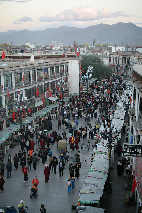 People from all over Tibet come to Lhasa to walk the Koras and make religious devotions.