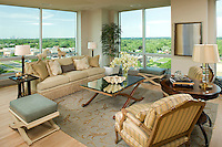 Architectural interior photography for the Edina Galleria condominiums by photographer James Michael Kruger.