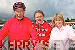 KGH CYCLE: Larry Daly, Killorglin, Maurice Kennedy, Farranfore and Monica Dillane, Tralee at the Charity Cycle in aid of the A&E at KGH on Saturday.