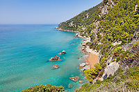 Myrtiotissa beach at Corfu, Greece