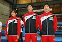 (L to R) Ayano Kishi, Masaki Ito, Yasuhiro Ueyama (JPN), .April 28, 2012 - Trampoline : .Trampoline Japan National Team Selection match for The London Olympics 2012 .at JISS, Tokyo, Japan. .(Photo by Daiju Kitamura/AFLO SPORT) [1045]