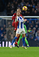 Liverpool's Fabinho (left) battles with Brighton & Hove Albion's Glenn Murray (right) <br /> <br /> Photographer David Horton/CameraSport<br /> <br /> The Premier League - Brighton and Hove Albion v Liverpool - Saturday 12th January 2019 - The Amex Stadium - Brighton<br /> <br /> World Copyright © 2018 CameraSport. All rights reserved. 43 Linden Ave. Countesthorpe. Leicester. England. LE8 5PG - Tel: +44 (0) 116 277 4147 - admin@camerasport.com - www.camerasport.com