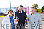 The Tralee Chamber Alliance launch their new phone app in Manor West on Tuesday morning.<br /> Front l to r: Ken Tobin (Tralee Chamber Alliance), Minister Brendan Griffin TD and Michelle King (Rose Hotel)