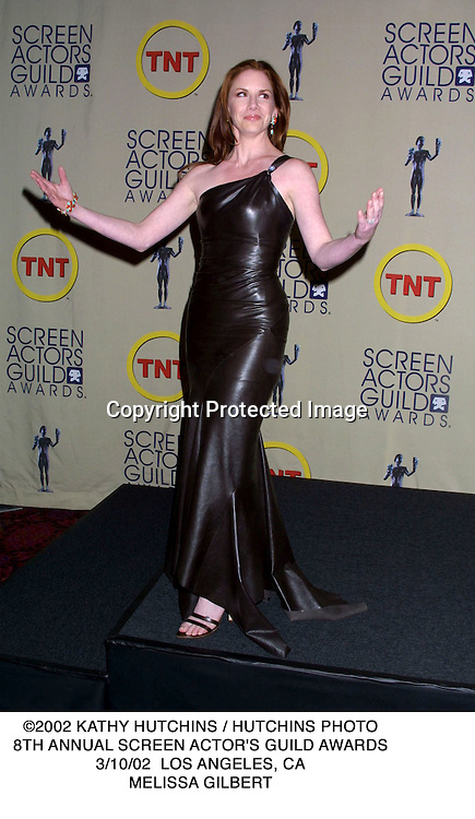 ©2002 KATHY HUTCHINS / HUTCHINS PHOTO.8TH ANNUAL SCREEN ACTOR'S GUILD AWARDS.3/10/02  LOS ANGELES, CA.MELISSA GILBERT