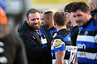 Henry Thomas of Bath Rugby after the match. Aviva Premiership match, between Bath Rugby and Sale Sharks on February 24, 2018 at the Recreation Ground in Bath, England. Photo by: Patrick Khachfe / Onside Images