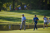 Phil Mickelson (USA) and Jason Day (AUS) head down 11 during 1st round of the 100th PGA Championship at Bellerive Country Cllub, St. Louis, Missouri. 8/9/2018.<br /> Picture: Golffile | Ken Murray<br /> <br /> All photo usage must carry mandatory copyright credit (© Golffile | Ken Murray)