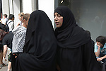 Middle Eastern tourists in Knightsbridge London 2009.