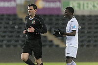 Pictured: Causso Darame of Swansea (R). Tuesday 01 May 2018<br /> Re: Swansea U19 v Cardiff U19 FAW Youth Cup Final at the Liberty Stadium, Swansea, Wales, UK