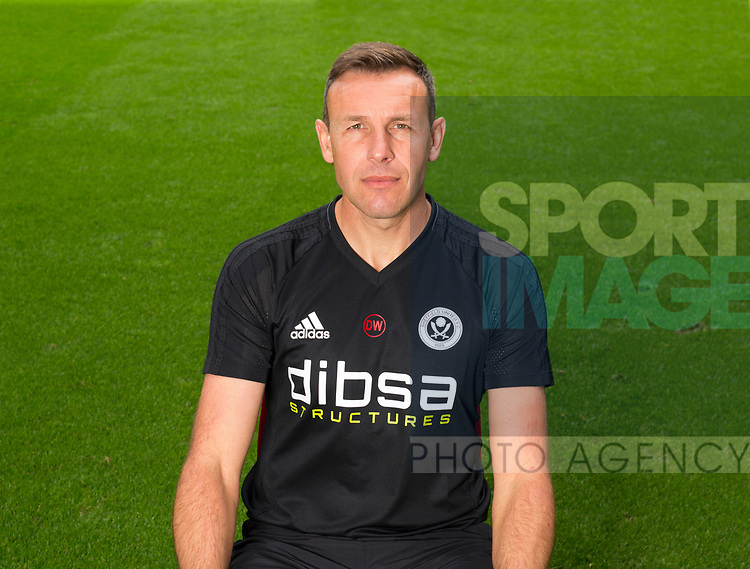 Darren Ward of Sheffield Utd during the 2017/18 Photocall at Bramall Lane Stadium, Sheffield. Picture date 7th September 2017. Picture credit should read: Sportimage