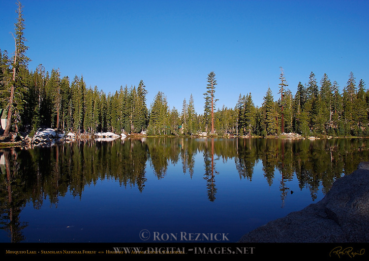 Mosquito Lake, Stanislaus National Forest, Highway 4, Alpine County, California