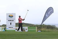 Eddie McCormack (Galway Bay) on the 19th tee during the Connacht Semi-Final of the AIG Barton Shield at Galway Bay Golf Club, Galway, Co Galway. 11/08/2017<br /> Picture: Golffile | Thos Caffrey<br /> <br /> <br /> All photo usage must carry mandatory copyright credit     (&copy; Golffile | Thos Caffrey)