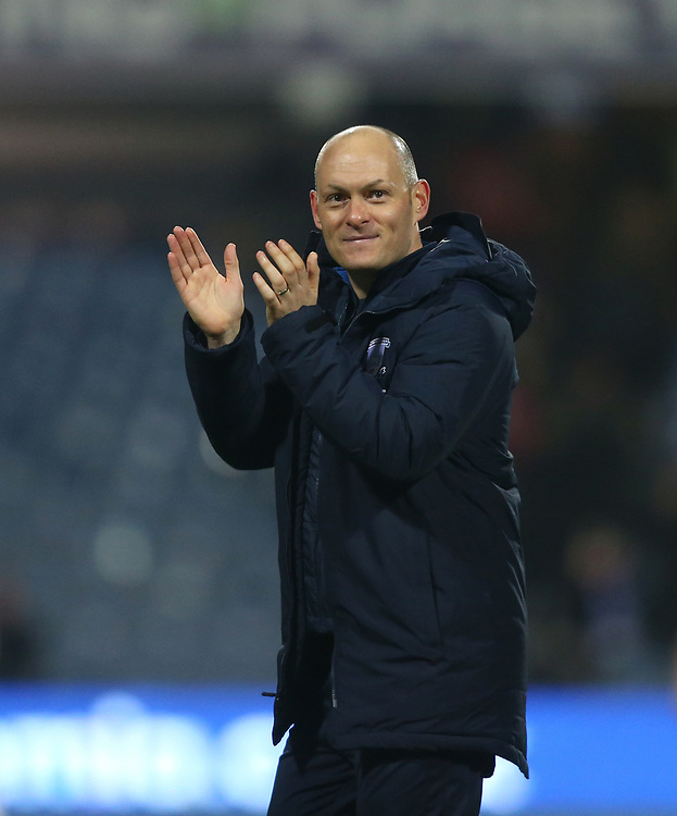 Preston North End manager Alex Neil applauds the fans at the end of the game<br /> <br /> Photographer Rob Newell/CameraSport<br /> <br /> The EFL Sky Bet Championship - Queens Park Rangers v Preston North End - Saturday 19 January 2019 - Loftus Road - London<br /> <br /> World Copyright &copy; 2019 CameraSport. All rights reserved. 43 Linden Ave. Countesthorpe. Leicester. England. LE8 5PG - Tel: +44 (0) 116 277 4147 - admin@camerasport.com - www.camerasport.com
