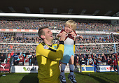 02/05/16 Sky Bet League Championship  Burnley v QPR<br /> Tom Heaton and son