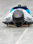 15 December 2006: Nozomi Komuro from Japan, starts her run at the FIBT Women's World Cup Skeleton Competition at the Olympic Sports Complex on Mount Van Hoevenburg  in Lake Placid, New York, USA. &amp;#xA;&amp;#xA;Mandatory Photo credit: Ed Wolfstein Photo<br />
