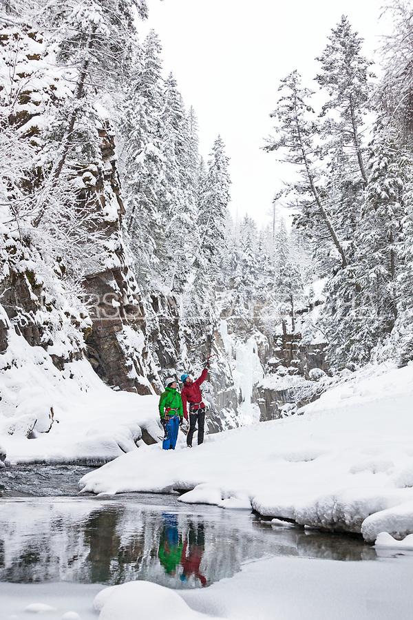Andy Turner and Gordon McArthur, Bull River Canyon, BC, Canada