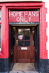 Bristol City 1 Middlesbrough 0, 16/01/2016. Ashton Gate, Championship. A 'home fans only' pub pictured before managerless Bristol City take on Championship leaders Middlesbrough. Ashton Gate is located in the south-west of the city, it currently has an all-seated capacity of 16,600, due to redevelopment, which will increase to a capacity of 27,000 by the start of the 2016-17 season. Bristol City won the game one goal to nil with a headed injury time winner. Photo by Simon Gill
