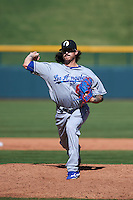 Glendale Desert Dogs pitcher Ralston Cash (85) delivers a pitch during an Arizona Fall League game against the Mesa Solar Sox on October 14, 2015 at Sloan Park in Mesa, Arizona.  Glendale defeated Mesa 7-6.  (Mike Janes/Four Seam Images)