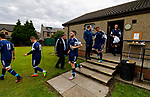 Burntisland Shipyard 0 Colville Park 7, 12/08/2017. The Recreation Ground, Scottish Cup First Preliminary Round. The Colville players emerge after half time. Photo by Paul Thompson