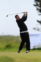 Aaron Grant (Dundalk) on the 1st tee during Round 1 of the Irish Amateur Close Championship at Seapoint Golf Club on Saturday 7th June 2014.<br /> Picture:  Thos Caffrey / www.golffile.ie