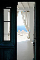 George Vasilaros is an acclaimed Greek archtiect who built his summer house on the island of Mykonos, Greece.