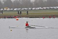 029 TwickenhamRC SEN.1x..Marlow Regatta Committee Thames Valley Trial Head. 1900m at Dorney Lake/Eton College Rowing Centre, Dorney, Buckinghamshire. Sunday 29 January 2012. Run over three divisions.