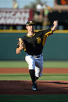 Bradenton Marauders pitcher Steven Brault (35) delivers a pitch during a game against the Charlotte Stone Crabs on April 22, 2015 at McKechnie Field in Bradenton, Florida.  Bradenton defeated Charlotte 7-6.  (Mike Janes/Four Seam Images)