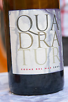 Cuvee Quadratur. Domaine Coume del Mas. Banyuls-sur-Mer. Roussillon. France. Europe. Bottle.