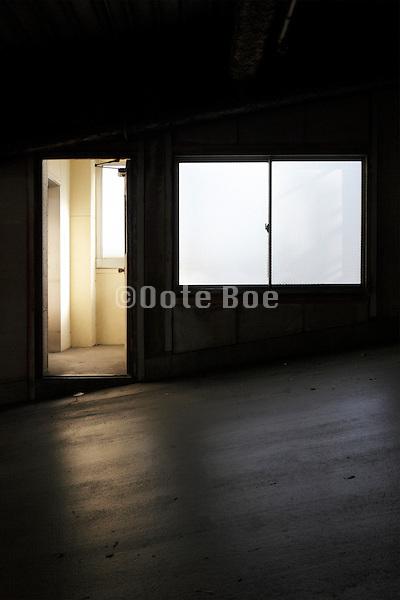 parking garage pedestrian exit and entrance door